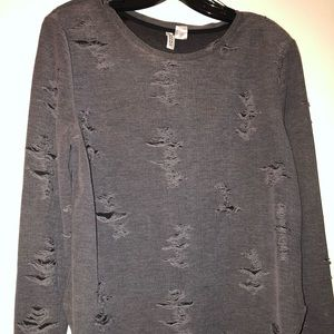 H & M Divided distressed long sleeve shirt